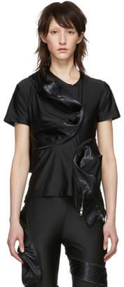Comme des Garcons Black Zipped Protrusion T-Shirt