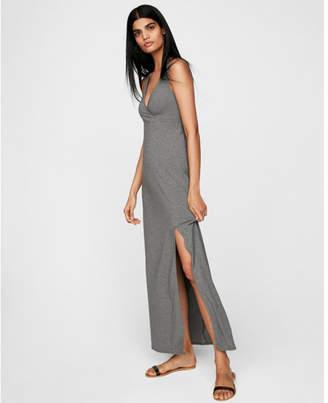 Express surplice empire waist high slit maxi dress