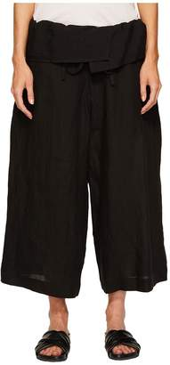 Yohji Yamamoto Y's by U-Waist Fold-Over Pants Women's Casual Pants