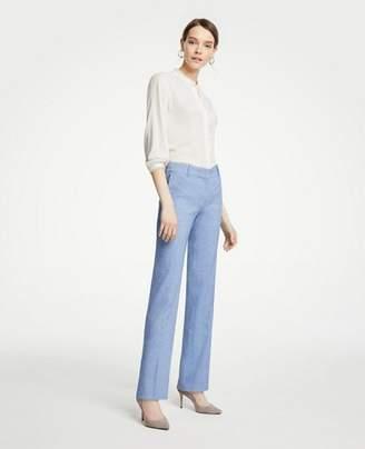 Ann Taylor The Petite Straight Leg Pant In Linen Blend