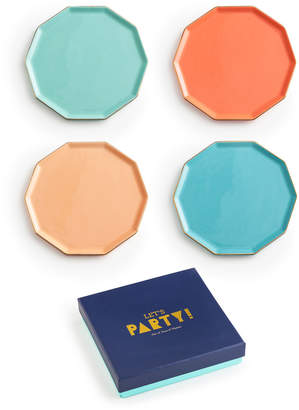 Rosanna Decagon Porcelain Plates, Set of 4
