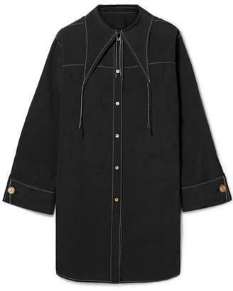 REJINA PYO Harper Reversible Woven Tunic - Black