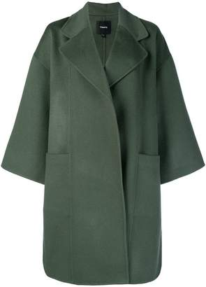 Theory oversized boxy-fit coat