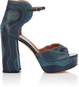 Derek Lam Women's Kimble Leather & Snakeskin Platform Sandals