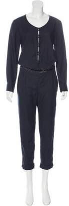 IRO Embellished Long Sleeve Jumpsuit