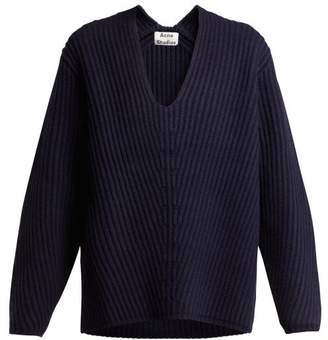 Acne Studios Deborah Wool Sweater - Womens - Navy