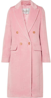 Max Mara Zarda Double-breasted Alpaca Coat - Baby pink