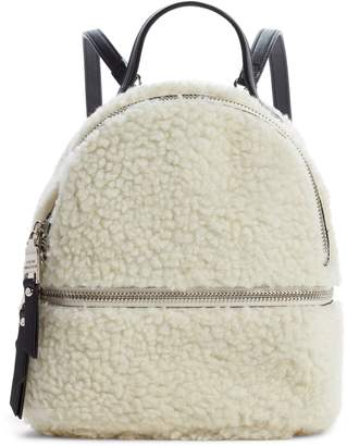 Steve Madden Mini Faux Fur Convertible Backpack