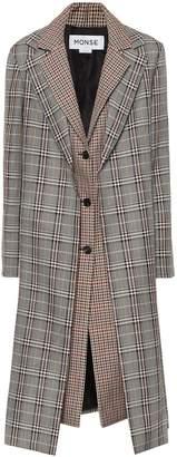 Monse Checked wool-blend coat