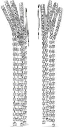 Miu Miu Silver-tone Crystal Ear Cuffs