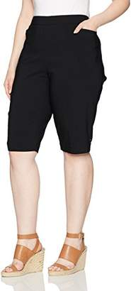 Napa Valley Women's Plus Size Super Stretch Slimming Solution Pull On Skimmer Short