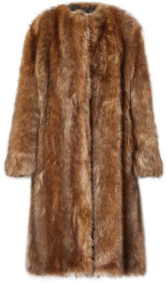 Givenchy Faux Fur Coat - Brown