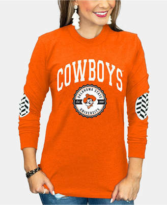 Couture Gameday Women Oklahoma State Cowboys Elbow Patch Long Sleeve T-Shirt