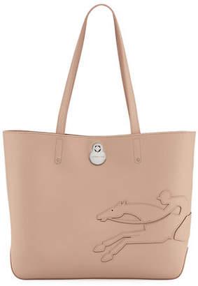 Longchamp Shop-It Medium Leather Tote Bag
