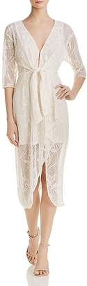 WAYF Prato Illusion Lace Dress