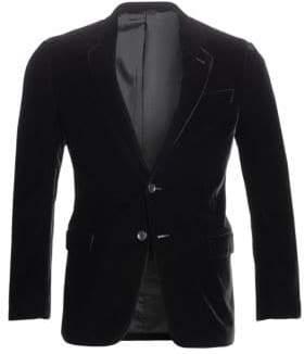 Giorgio Armani Stretch Solid Velvet Blazer