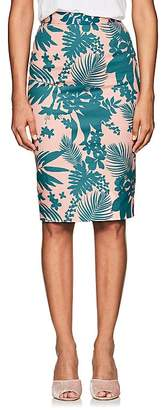 Barneys New York Women's Floral Cotton Twill Pencil Skirt