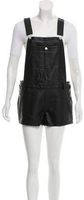Townsen Faux Leather Overall Romper w/ Tags