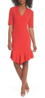 Maggy London Flounce Hem Sheath Dress