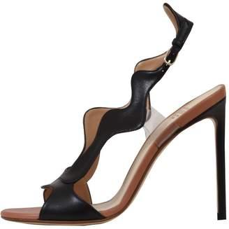 Francesco Russo 10,5cm Black Wavy Sandals