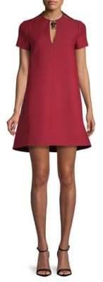 Valentino Bar Keyhole Neck Shift Dress