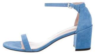 Stuart Weitzman Suede Simple Sandals w/ Tags