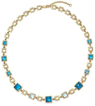 """Bloomingdale's London Blue and Swiss Blue Topaz Geometric Necklace in 14K Yellow Gold, 16.5"""" - 100% Exclusive"""