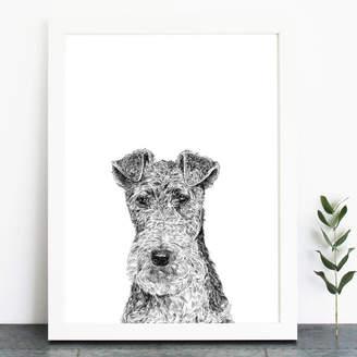 Ros Shiers Fox Terrier Print