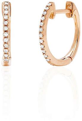 Ef Collection Mini Diamond Huggie Earrings