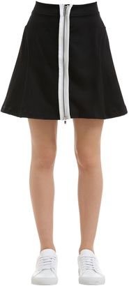 Wood Wood Zip-Up Stretch Cotton Skirt $135 thestylecure.com