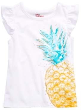 Epic Threads Toddler Girls Flutter-Sleeve Pineapple T-Shirt, Created for Macy's