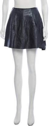 Theory Leather Mini Skirt