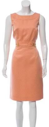 Tahari Arthur S. Levine Textured Knee-Length Dress