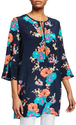 aa4e1874231 Tolani Plus Size Astrid Floral-Print 3 4-Sleeve Tunic