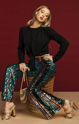 Show Me Your Mumu Leigh Pants ~ Cocktail Stripe Sequins