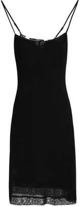 McQ Lace-Trimmed Crepe Dress