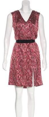 Louis Vuitton Printed Knee-Length Dress