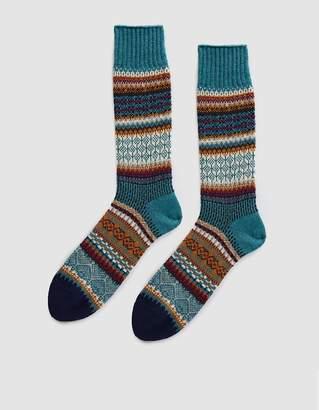 Chup Mezs Knit Socks in Cerulean