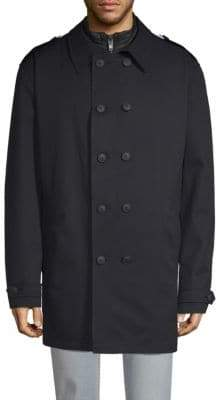 Bugatti 2-in-1 Quilted Jacket & Double-Breasted Coat