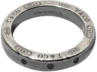 Tiffany & Co. 925 Sterling Silver & Diamond Circle Round Stacking Ring Size 5.5