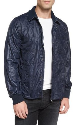 John Varvatos Star USA Nylon Quilted Jacket, Navy $98 thestylecure.com