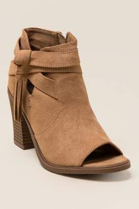 Rampage Promise Peep Toe Bootie - Camel