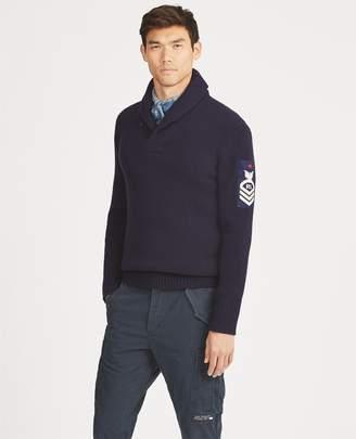 Ralph Lauren Wool Shawl-Collar Sweater