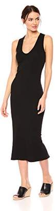 Enza Costa Women's Sleeveless U-Neck Ankle Length Dress