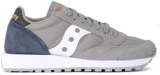 Saucony Jazz Grey And Blue Suede And Fabric Sneaker
