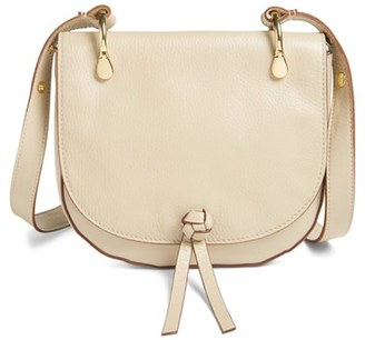 Elizabeth And James 'Zoe' Leather Saddle Bag - White $395 thestylecure.com