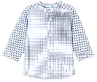 Jacadi Boys' Grid-Print Button-Down Shirt - Baby