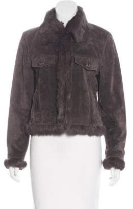 La Fiorentina Fur-Lined Leather Jacket