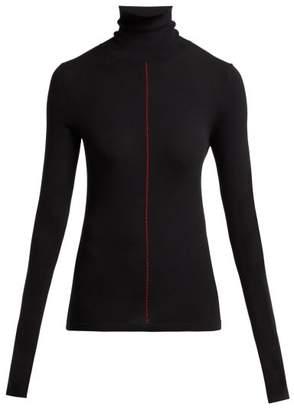 Maison Margiela Roll Neck Stretch Knit Sweater - Womens - Black
