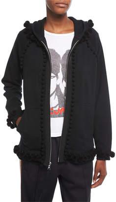 Marc Jacobs Pompom Zip-Front Sweatshirt